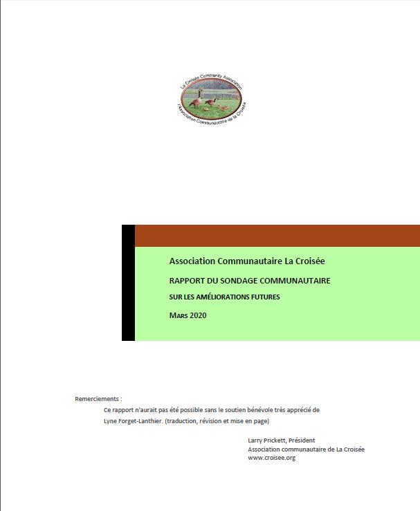 LaCroisee-RapportduSondage-Cover